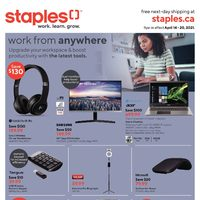 Staples - Weekly Deals - Work From Anywhere Flyer