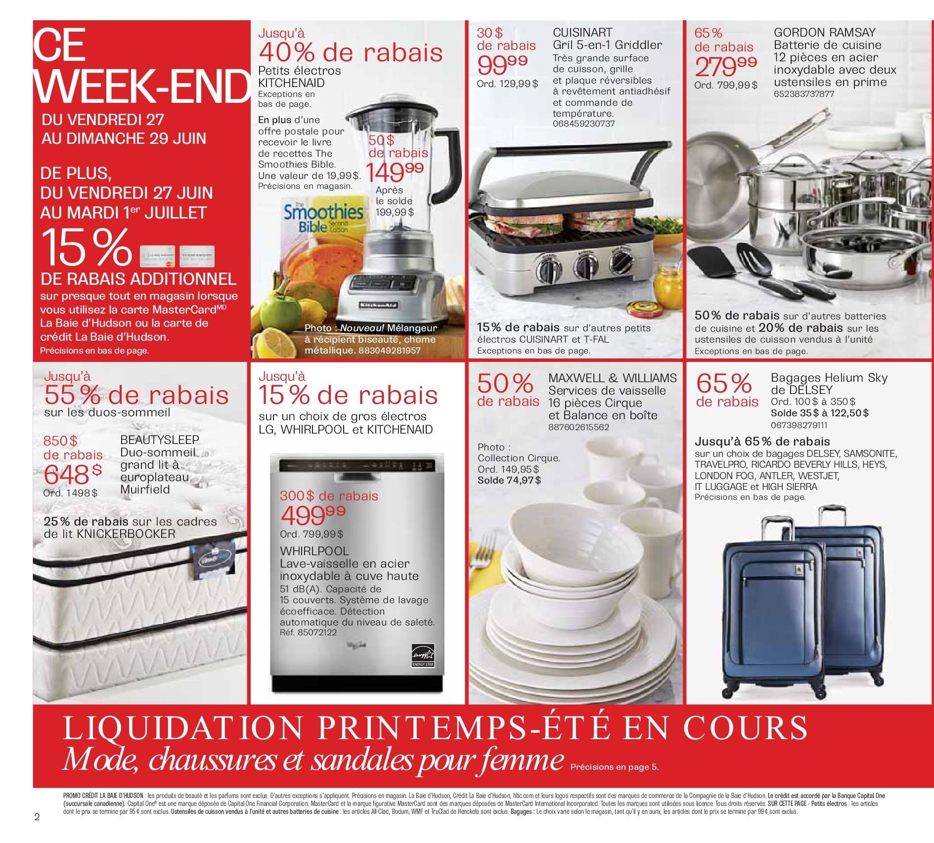 The Bay Weekly Flyer Circulaire Hebdomadaire Fete Du Canada