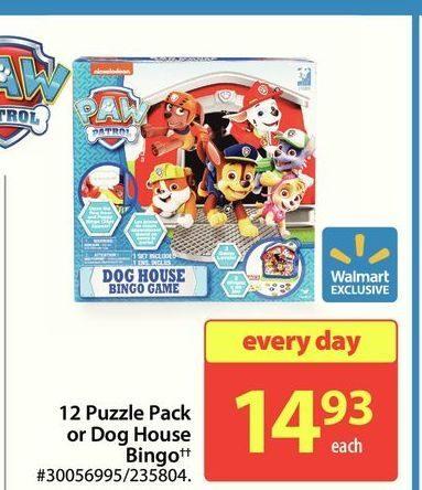 Walmart Paw Patrol 12 Puzzle Pack Or Dog House Bingo Redflagdeals Com