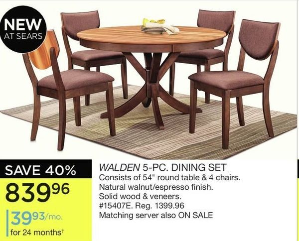 Sears Walden Pc Dining Set Redflagdeals Com