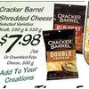 Cracker Barrel Shredded Cheese - $7.98