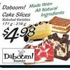 Daboom! Cake Slices - $4.98