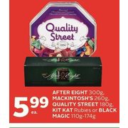 After Eight, Mackintosh's, Quality Street, Kit Kat Rubies Or Black Magic  - $5.99