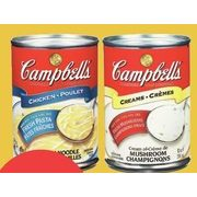 Campbell's Soup Chicken Noodle, Cream Of Mushrooms, Tomato Or Vegetable - $0.99