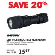 LED Indestructible Flashlight - $15.97 (20% off)