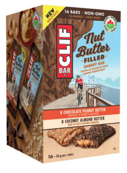 Costco: Clif Bar Organic Nut Butter Filled Energy Bar Variety Pack