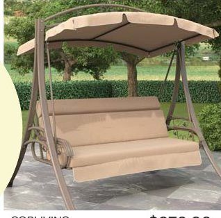 The Bay Corliving Nantucket Patio Swing With Arched Canopy