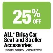 All Brica Car Seat and Stroller Accessories - 25% off