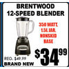 Brentwood 12-Speed Blender - $34.99