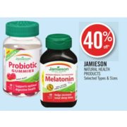 40% Off Jamieson Natural Health Products