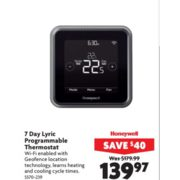 Honeywell 7 Day Lyric Programmable Thermostat - $139.97 (Save $40.00)