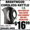 Brentwood Cordless Kettle - $16.99