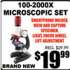100-2000X Microscopic Set - $19.99