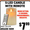 5-LED Candle with Remote - $7.99