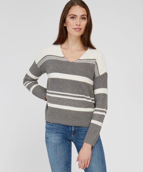 e1a6f33095 Bootlegger Pink Rose - Stripe Pullover With Lace Up Back - Wb -  12.99  ( 36.91 Off) Pink Rose - Stripe Pullover With Lace Up Back - Wb