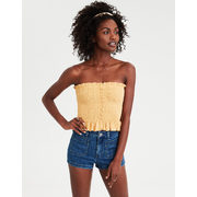Ae Button Front Smocked Tube Top - $19.99 ($9.96 Off)