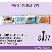 Manitoba Harvest Hemp Yeah! Bars - $1.77 ($0.52 off)