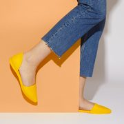 Women's Audrey Flats In Yellow Native - $49.98 ($15.02 Off)