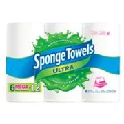 Spongetowels Ultra Choose-a-size Paper Towels, 6-pk - $9.99 ($7.00 Off)