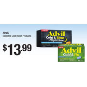 Advil Cold Relief Products - $13.99
