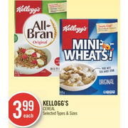 Kellogg's Cereal - $3.99
