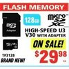 Micro SD XC High-Speed U3 V30 With Adapter - $29.98