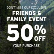 Eddie Bauer Friends & Family Event: 50% off Your Purchase