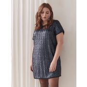 Short-sleeve Sequin Mini Dress - Addition Elle - $19.99 ($20.00 Off)