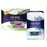 Always Discreet Underwear, Pads or Liners - $15.99/pkg