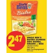 Uncle Ben's Bistro Express Side Dishes, Grains Or Rice - $2.47
