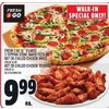 Fresh 2 Go 16' X-Large 3-Topping Stone Baked Pizza Or Hot Or Chilled Chicken Wings, Hot Or Chilled Chicken Tenders - $9.99
