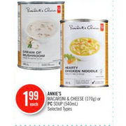 Annie's Macaroni & Cheese Or PC Soup  - $1.99