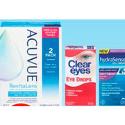 Acuvue Revitalens Multi-Purpose Solution Clear Eyes or Hydrasense Eye Drops - Up to 15% off