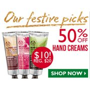 50% off Select Hand Creams - $10.00